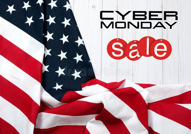 United States flag. American holiday. Sale. stock photos