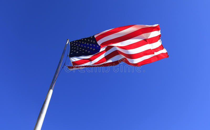 United States Flag at Chimney Rock. The United States Flag at Chimney Rock in Chimney Rock North Carolina stock photos