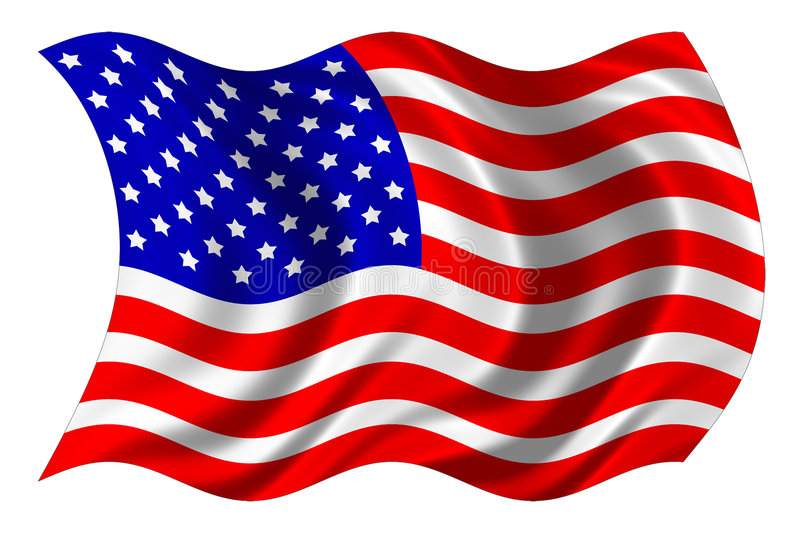 United states flag isolated stock image