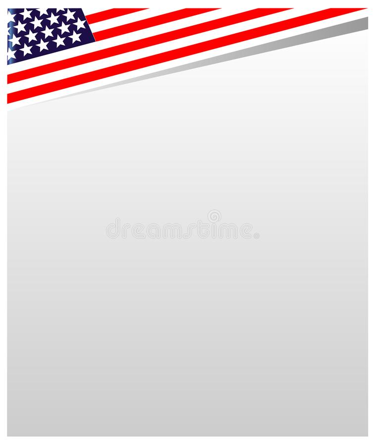 USA Flag Frame A White Empty Space For Your Design. Stock Vector ...