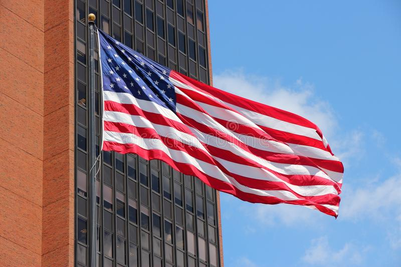 United States flag. Flag of the United States, the star spangled banner stock images