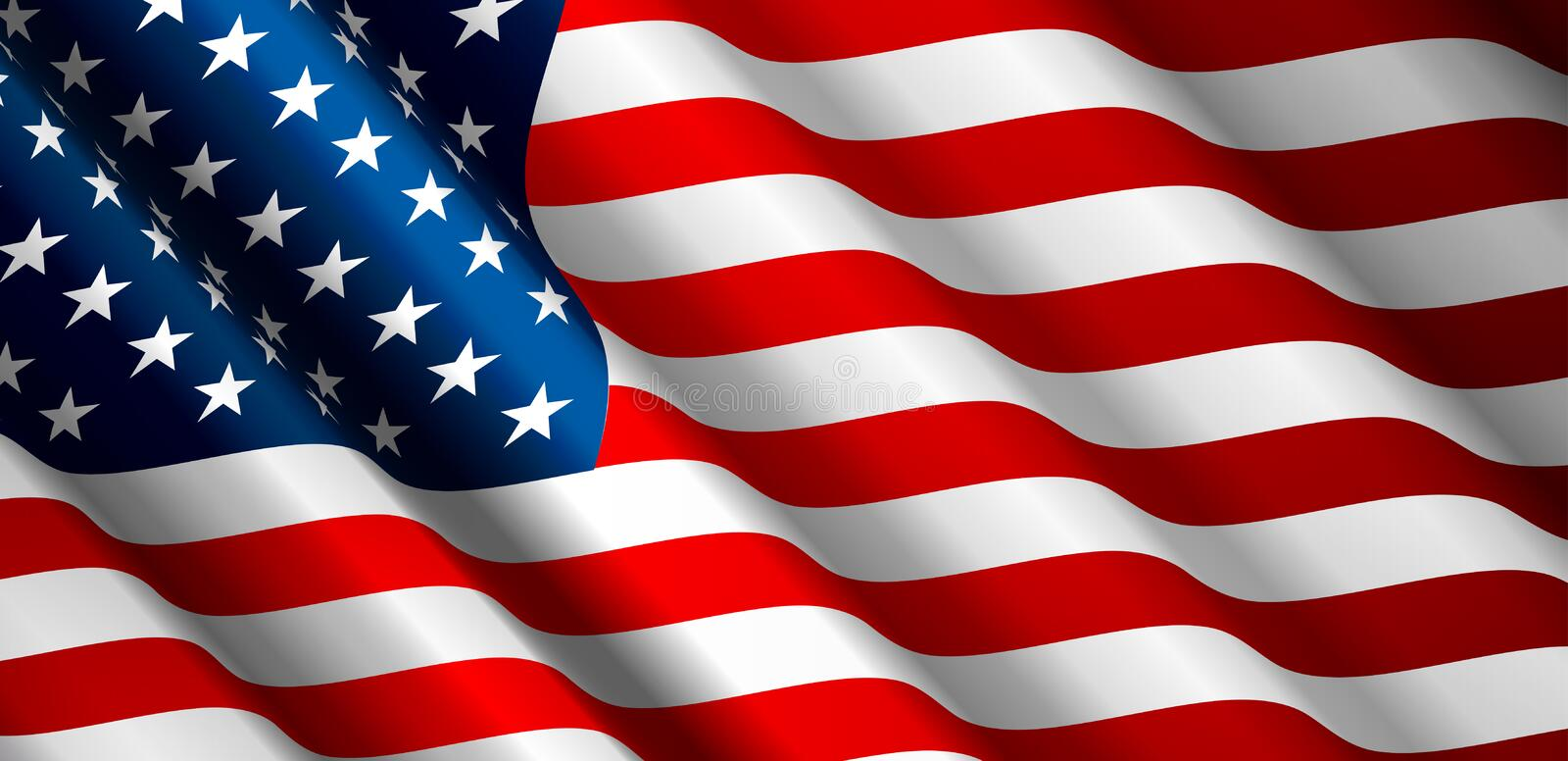 United States Flag Vector stock illustration