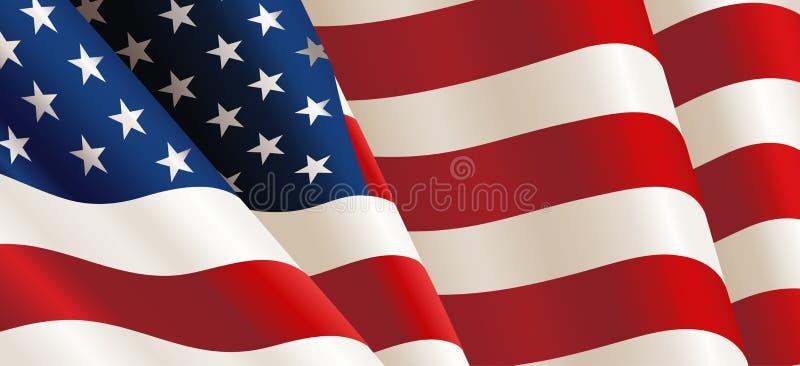 United States Flag Vector vector illustration