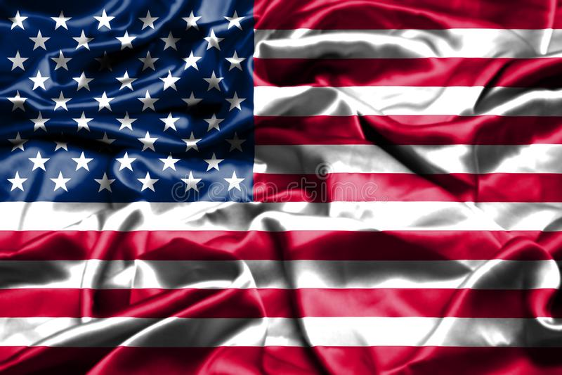 American Flag Realistic Stock Vector Illustration Of