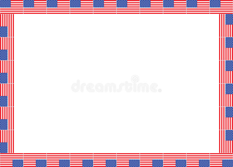 Download United States flags frame stock vector. Image of illustration - 28563153