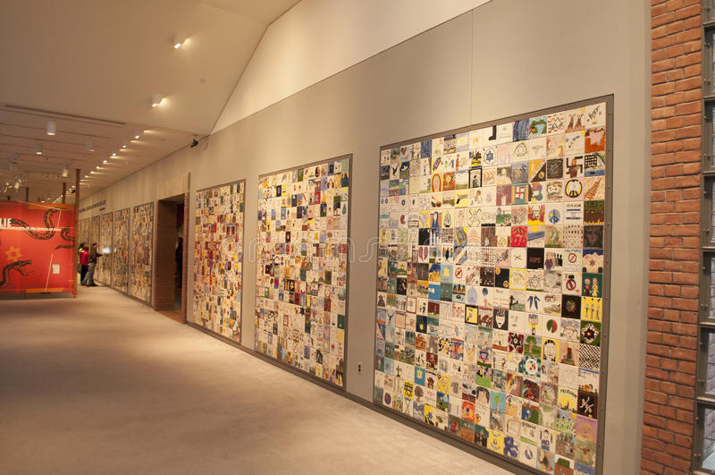 United States Holocaust Memorial Museum. An image of the Children's Tile Wall at the United States Holocaust Memorial Museum in Washington DC royalty free stock image