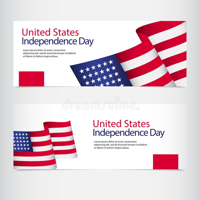 United States Independence Day Celebration Vector Template Design Illustration. July, 4th, happy, usa, american, fourth, background, flag, card, greeting vector illustration