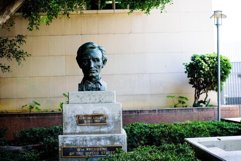 UNITED STATES - June 01: Sculpture of Abraham Lincoln, June 01, 2016 in Los Angeles, United States. Sculpture of Abraham Lincoln, June 01, 2016 in Los Angeles stock photo