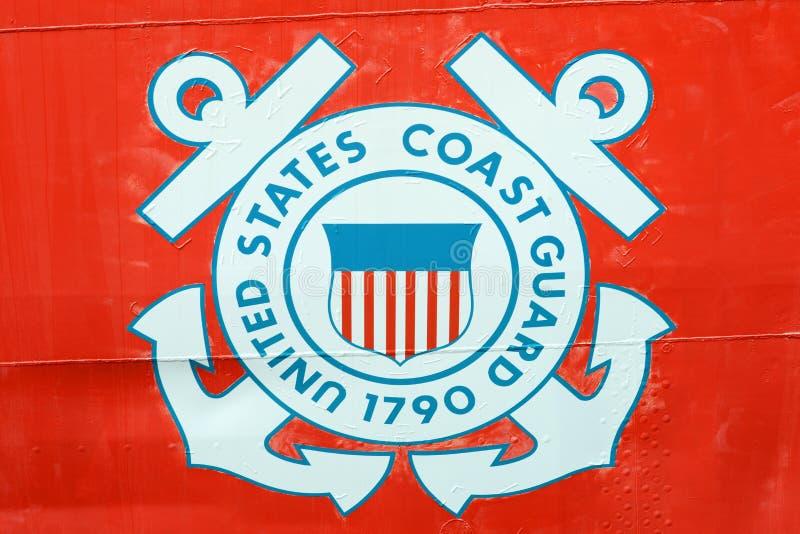 United States kustbevakninggradbeteckning arkivbild