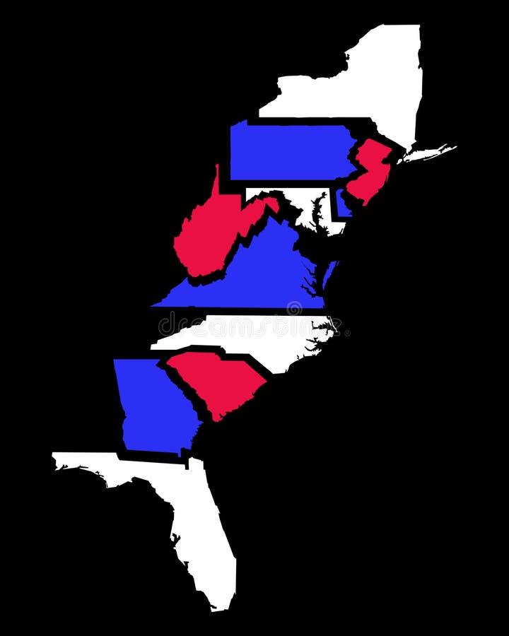 Download United States Map stock illustration. Illustration of states - 4201761