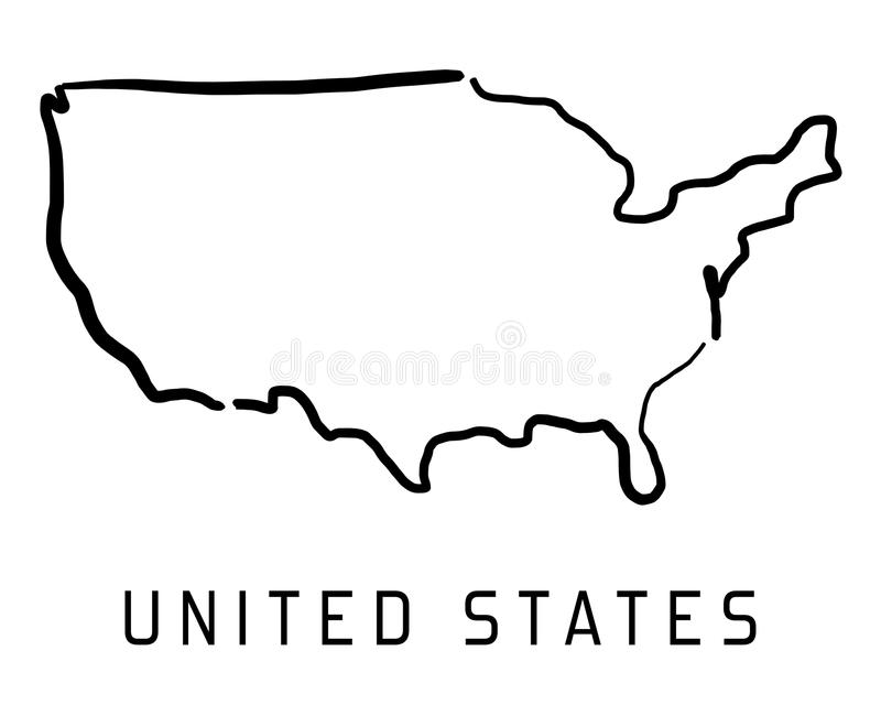 Simple United States Outline Map.United States Map Simple Outline Stock Illustrations 1 122