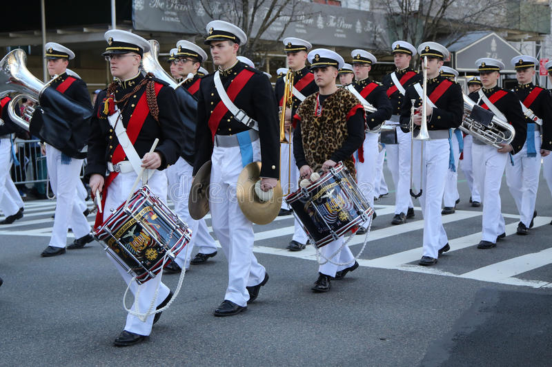 Download United States Merchant Marine Academy Marching At The St. Patrick`s Day Parade In New York. Editorial Stock Image - Image: 88388494