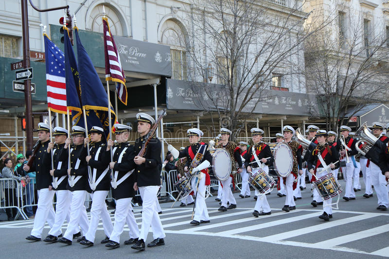 Download United States Merchant Marine Academy Marching At The St. Patrick`s Day Parade In New York. Editorial Photo - Image: 88388571