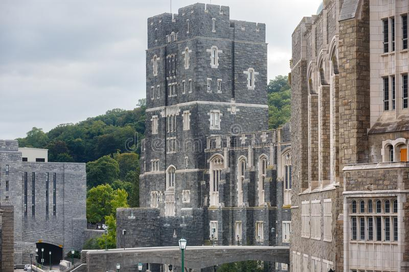 United States Military Academy USMA. NEW YORK, USA - Sep 18, 2017: United States Military Academy USMA, also known as West Point, Army, The Academy is a four royalty free stock image