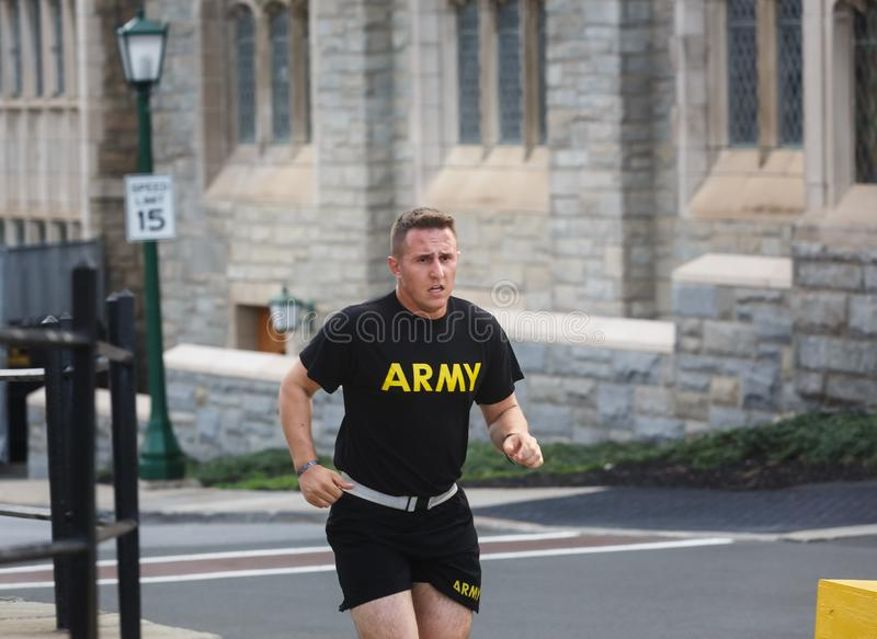United States Military Academy USMA. NEW YORK, USA - Sep 18, 2017: United States Military Academy USMA, also known as West Point, Army, Academy is a four-year stock images