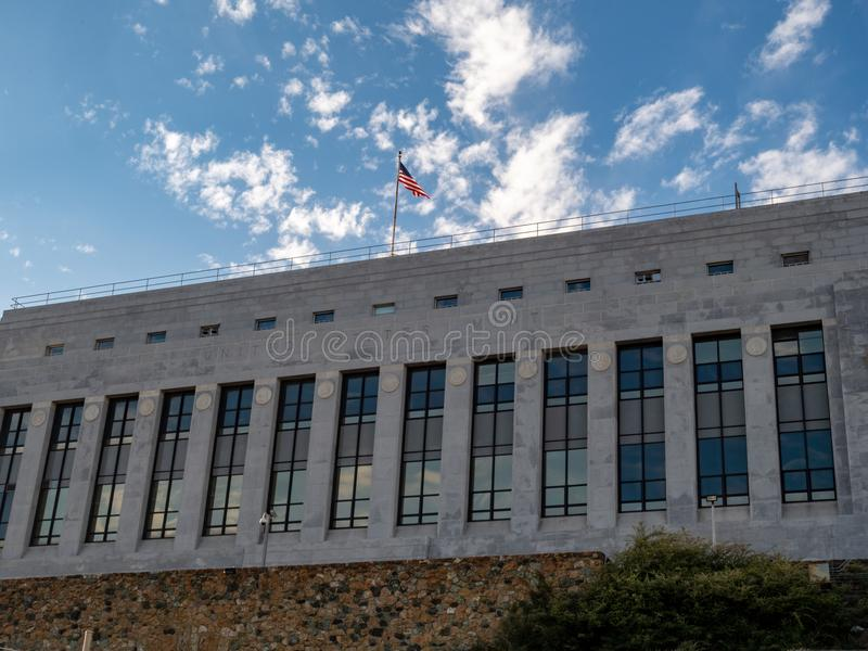 United States Mint building location in San Francisco, CA. SAN FRANCISCO, CA – May 5, 2018: United States Mint building location in San Francisco, CA stock images
