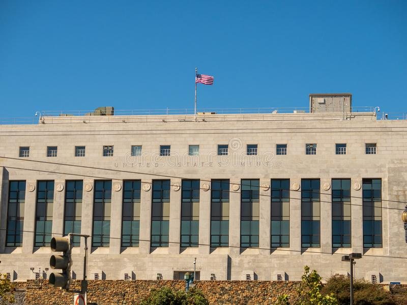 United States mint location in San Francisco. San Francisco, CA SEPTEMBER 8, 2018: United States mint location in San Francisco stock photography