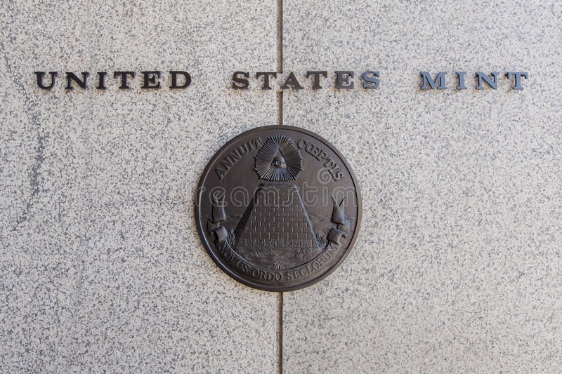 United States Mint. United States mint Philadelphia, Pennsylvania, America royalty free stock photos