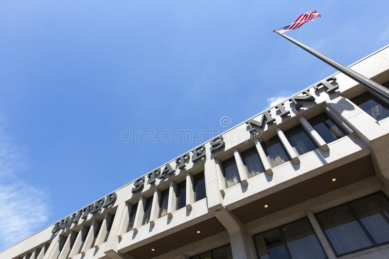 United States Mint. United States mint Philadelphia, Pennsylvania, America. Outside of building royalty free stock image