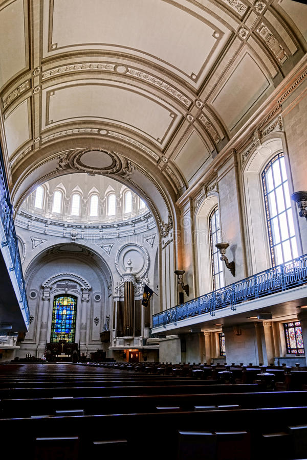 United States Naval Academy Chapel Church Interior. United States Naval Academy Chapel landmark church interior viewed inside the multi denominational house of royalty free stock images