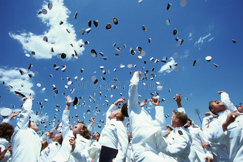 United States Naval Academy Graduation Ceremony. This is the United States Naval Academy Graduation Ceremony. The shows the graduating Naval Cadets during the royalty free stock photos