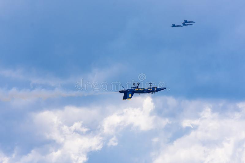 The United States Navy Blue Angels stock photography