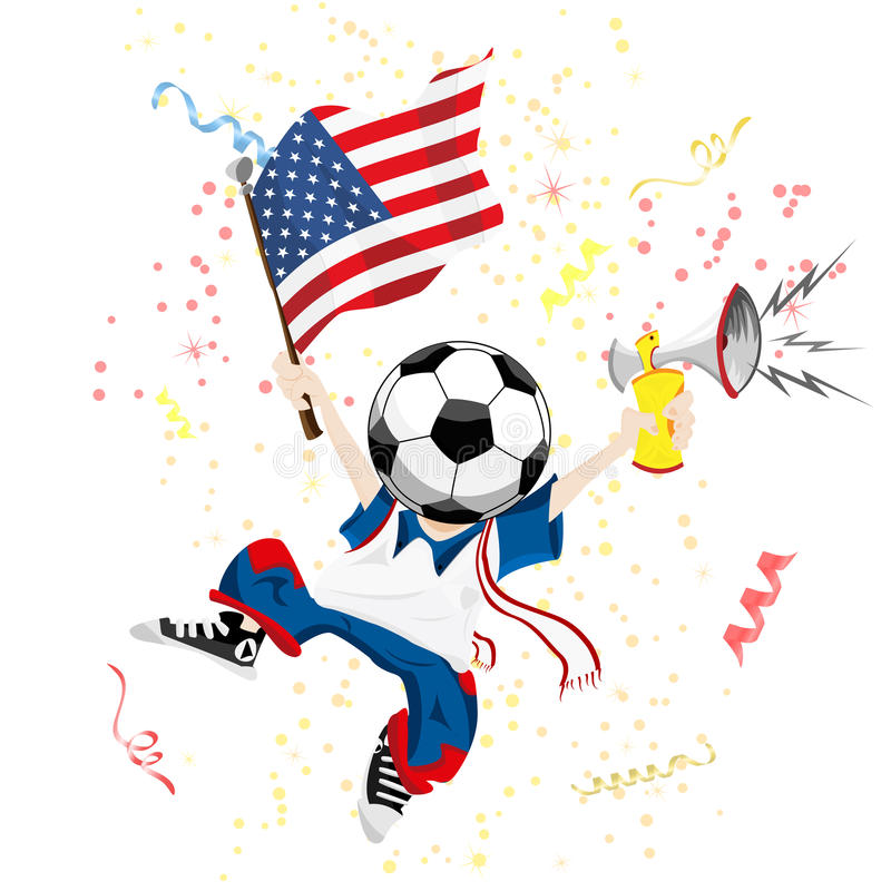 Free United States Of America Soccer Fan Royalty Free Stock Photography - 14213577