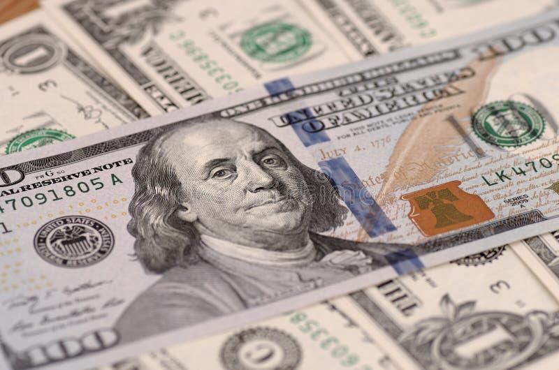 United States one hundred-dollar bill stock image