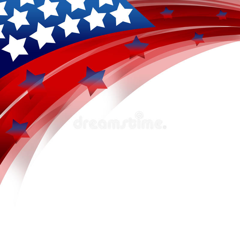 United States Patriotic background. An abstract illustration of United States Patriotic background