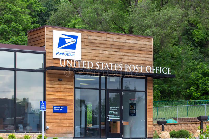 United States Post Office Building. STILLWATER, MN/USA - JUNE 27, 2014: United States Post Office building. The United States Postal Service provides postal royalty free stock photography