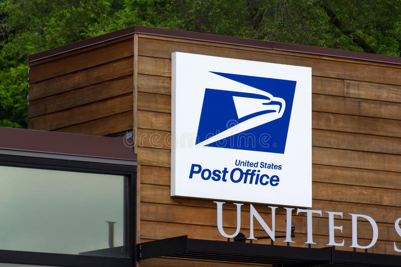 United States Post Office Building. STILLWATER, MN/USA - JUNE 27, 2014: United States Post Office building. The United States Postal Service provides postal stock photo