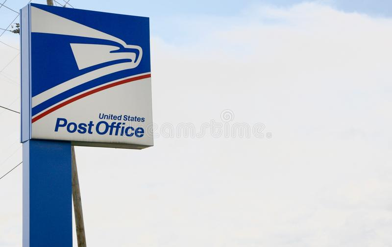United States Post Office. A full service facility of the United States Post Office royalty free stock image