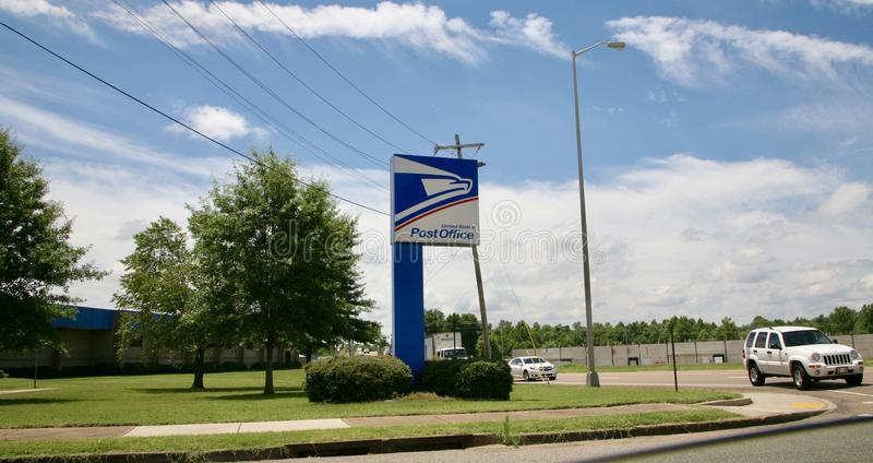 United States Post Office Logo. A full service facility of the United States Post Office royalty free stock image