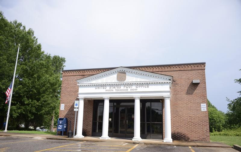 United States Post Office, Mason TN. United States Post Office, this branch is located in Mason, Tennessee stock images