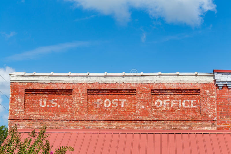 United States Post Office. Old United States Post Office in downtown Brooklet, Georgia royalty free stock photo