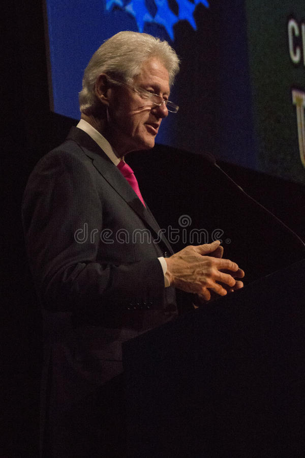 United States President Bill Clinton. Past United States President Bill Clinton gives a speech during the Clinton Global Initiative gathering at Arizona State royalty free stock image