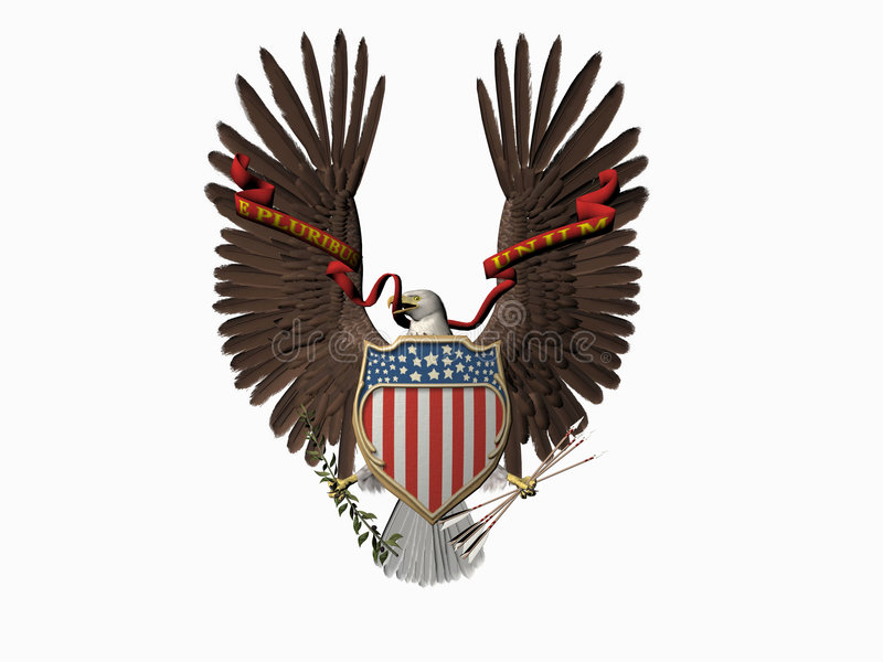 United states seal, Out of many, one. royalty free illustration
