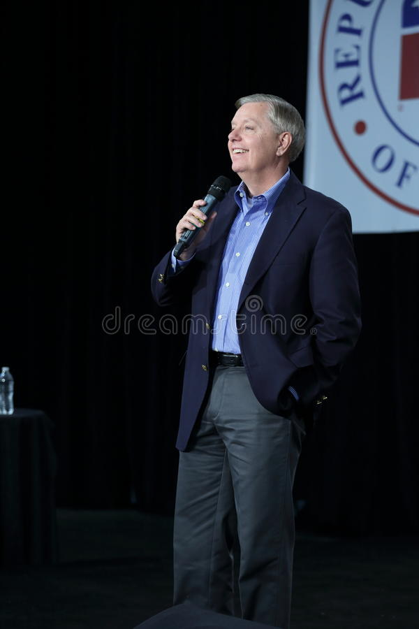United States Senator from South Carolina, Lindsey Graham. Iowa Republican Growth and Opportunity Party, October 31, 2015, Des Moines, Iowa. United States royalty free stock photos