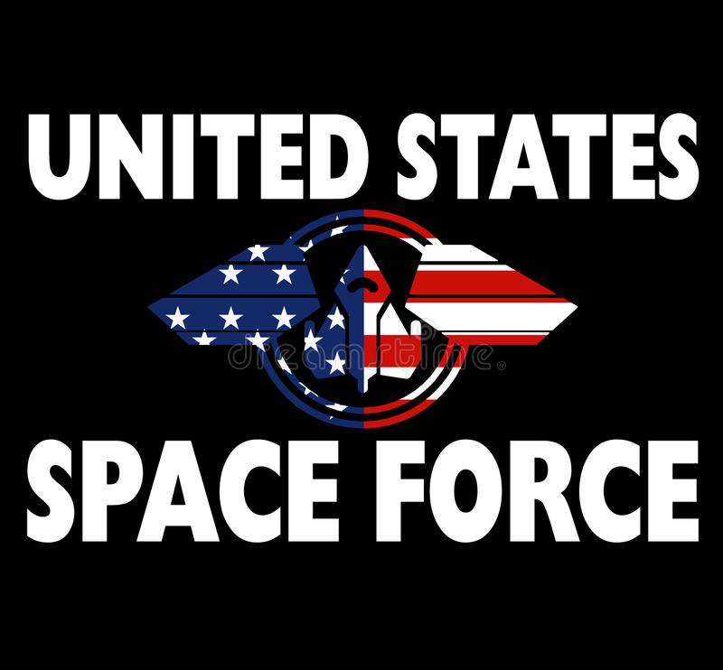 United States Space Force Shirt Patriotic Gift. United States Space Force help the cause for defending the U.S. interests Among the Stars. Our Space Corps royalty free illustration