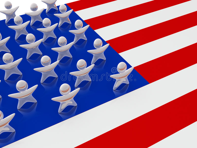 Download United States Stars stock illustration. Image of human - 8087303
