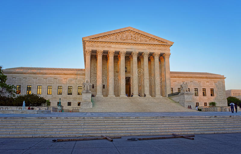 United States Supreme Court Building in Washington. United States Supreme Court Building is located in Washington D.C., USA. It is the seat of the Supreme Court royalty free stock image