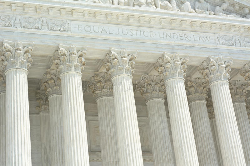 United States Supreme Court with Text royalty free stock photos