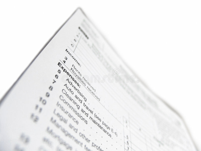 United States Tax Form Stock Photo