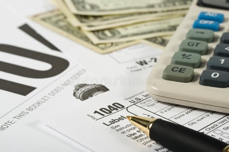 United States Tax Form royalty free stock photo