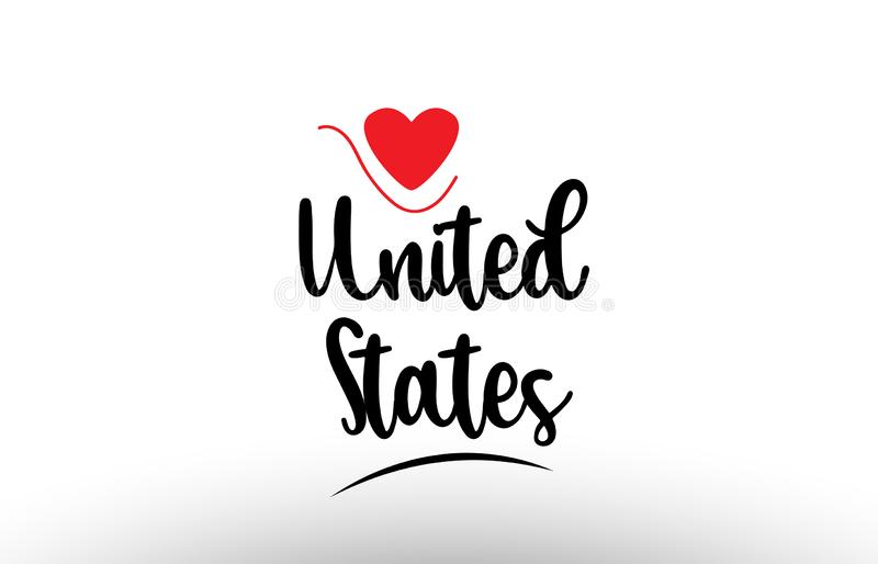 United States US country text typography logo icon design stock illustration