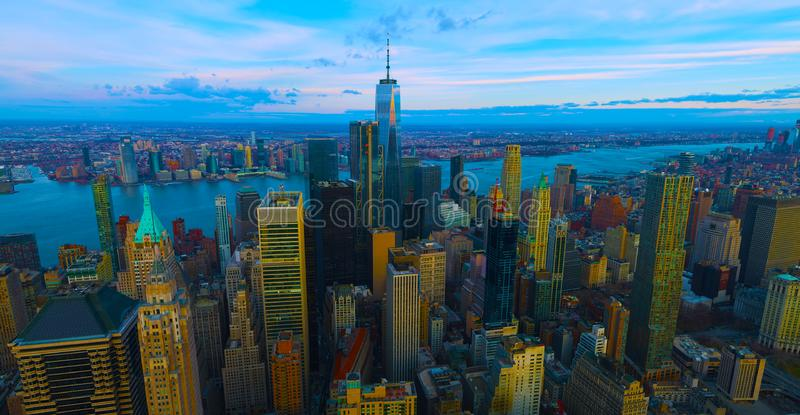 United States usa  janvier ,10, 2019  New York City panorama skyline at sunrise. Manhattan office buildings / skysrcapers at the royalty free stock photo
