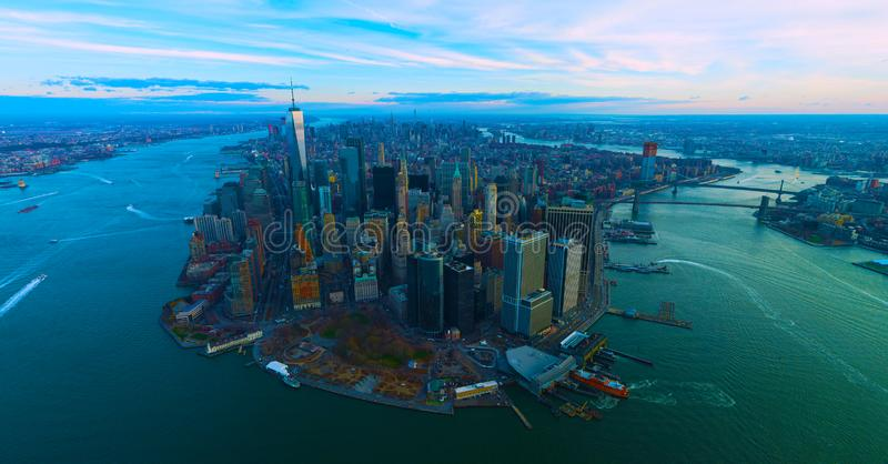 United States usa  janvier ,10, 2019  New York City panorama skyline at sunrise. Manhattan office buildings / skysrcapers at the stock image