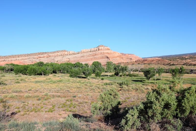 United States - Utah. Utah, United States - green valley and red rocks stock photography