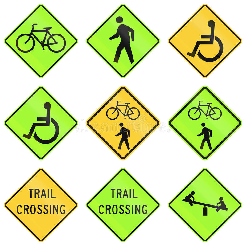 United States warning MUTCD road signs royalty free illustration