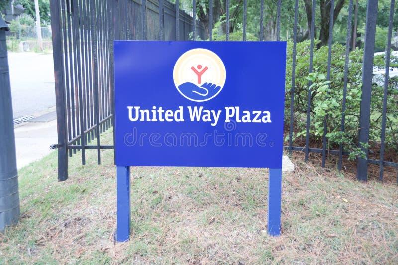 United Way de la plaza de América imagen de archivo